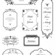 Set of Ornamental frames  — Stock Vector