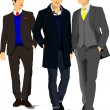 Three handsome man  — Stock Vector