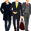 Three young men — Stock Vector
