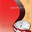 Cover clock for brochure or template office folder — Imagen vectorial