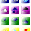Set of Nine office icon — Stock Vector