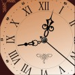 Antique old looking clock face — Imagen vectorial