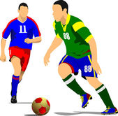 Soccer player. Vector illustration — Stock Vector