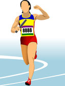 The running woman. — Stockvector