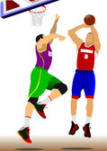 Basketball player. — Stockvector
