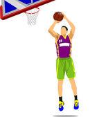 バスケット ボール選手. — ストックベクタ