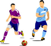 Soccer player poster. — Stock Vector