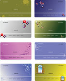 Set of templates for business cards — Wektor stockowy
