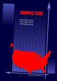 Cover for brochure with USA silhouette — Stockvector
