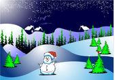 New Year Night card — Vetorial Stock