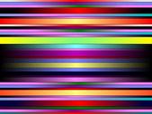 Rainbow neon stripped image — Stock Vector