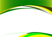 Yellow green grunge background — Vector de stock