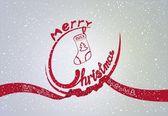 Zimní karta s vánoce — Stock vektor