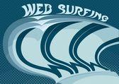 Surfer sur le web — Vecteur