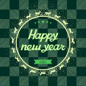 Happy New Year Card greeting illustration, vector (eps 8) — Stockvektor