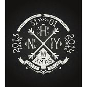 Happy new year vector retro chalkboard lettering — Stock Vector