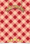 Christmas poster in kilt with inscription — Stock Vector