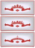 Set of winter banners with holidays design — Stock Vector