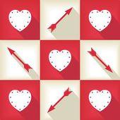 Divertida tarjeta pop art para el día de san valentín — Vector de stock