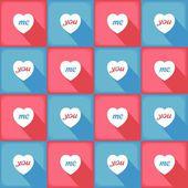 Funny pop-art pattern for love — Stock Vector