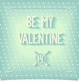 Be my valentine greeting card — Stock Vector