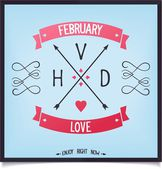 Arrows with capital letters Valentine's Day — Vector de stock