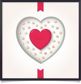 Abstract heart in picture frame — Stock vektor
