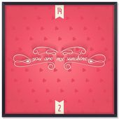 You are my sunshine lettering — Stock Vector