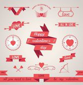 Valentine's Day set design elements — Stock Vector
