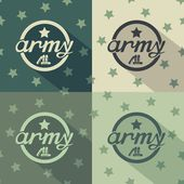 Army seamless signs print — Stock Vector
