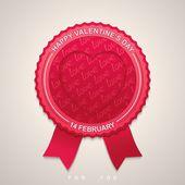 Round label for Valentine's Day — Stockvektor