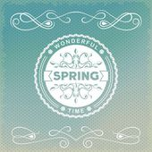 Spring old-fashion label — Stock Vector