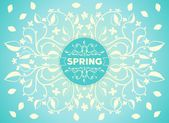 Spring floral ornament — Vector de stock