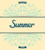 Letnia karta kwiatowy wzór — Wektor stockowy
