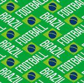 ブラジル サッカーのシームレスなパターン — ストックベクタ