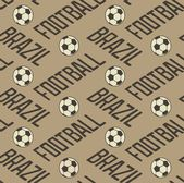 Brazil football seamless pattern — Vector de stock