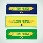 Banners set - welcome to Brazil — Stock Vector
