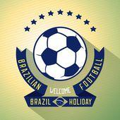 Bright invitation to football — Stock Vector