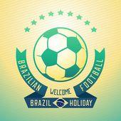 Greeting football in Brazil — Stock Vector