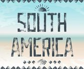 Typography background South America — Stock Vector
