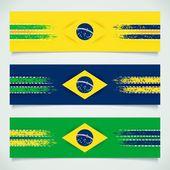 Abstract design Brazilian flag — Stock Vector