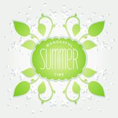 Summer is wonderful time — Stock Vector