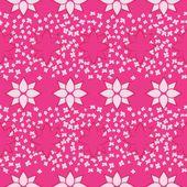 Pembe çiçekler seamless modeli — Stok Vektör