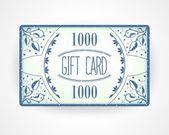 Retro Geschenk Kartenvorlage — Stockvektor