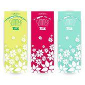 Bloemen zomer banner instellen — Stockvector