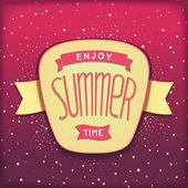 Enjoy summer time retro label — Stock Vector
