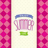 Design de modelo de cartão-postal de verão — Vetor de Stock