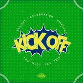 Kick off football — Stock Vector