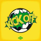 Kick off football match — Stock Vector