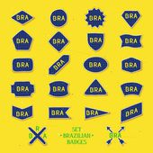 Set brazilian badges — Stock Vector